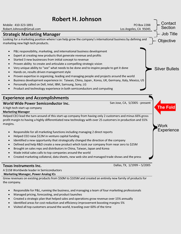 67 Great Sample Resume Format for Pictures