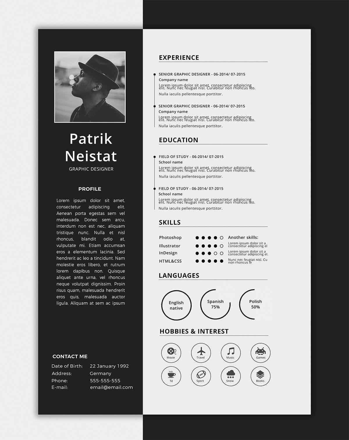 67 New Free 1 Page Resume Template with Pictures