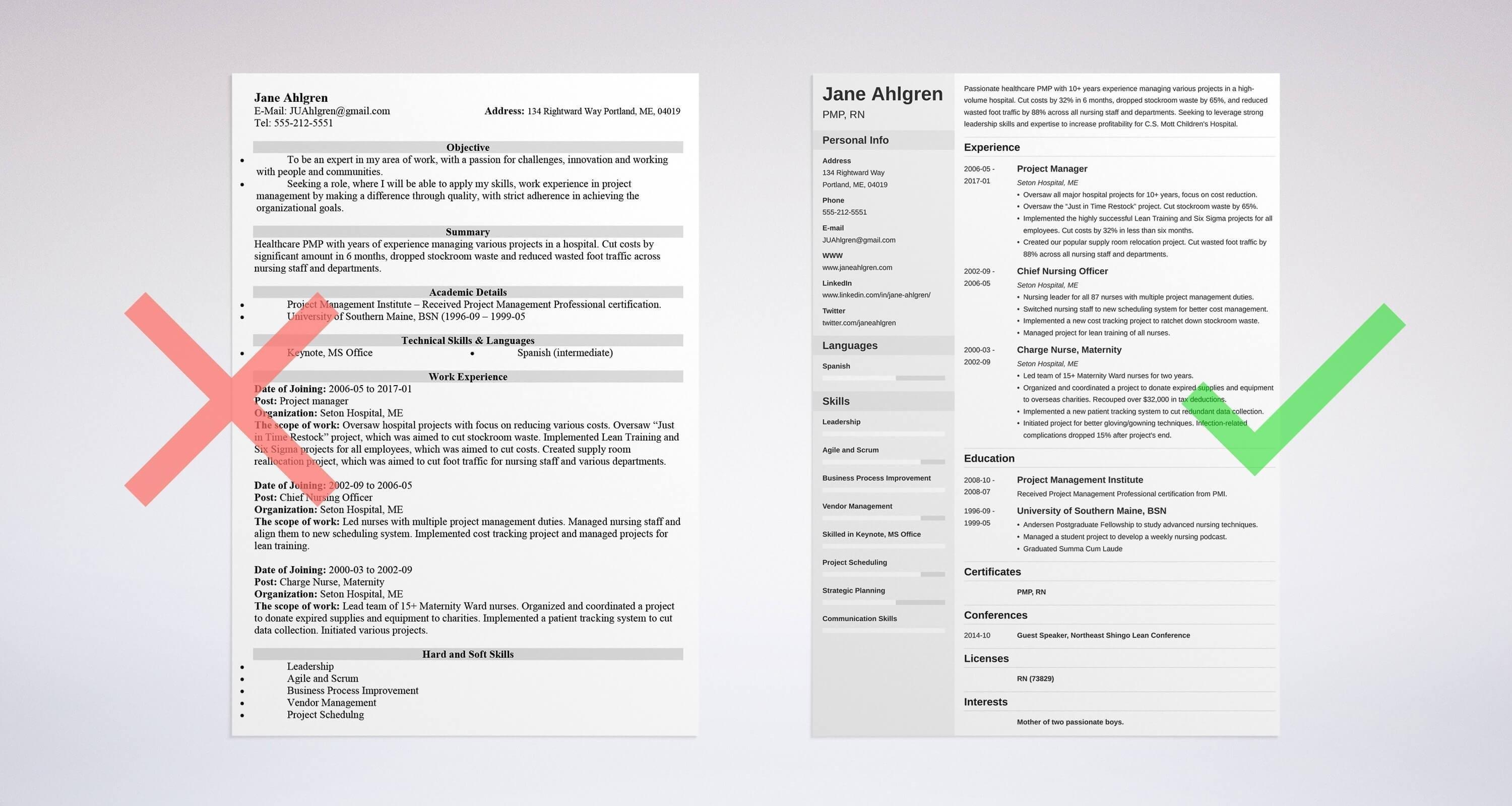 68 Beautiful Great Resume Formats for Graphics