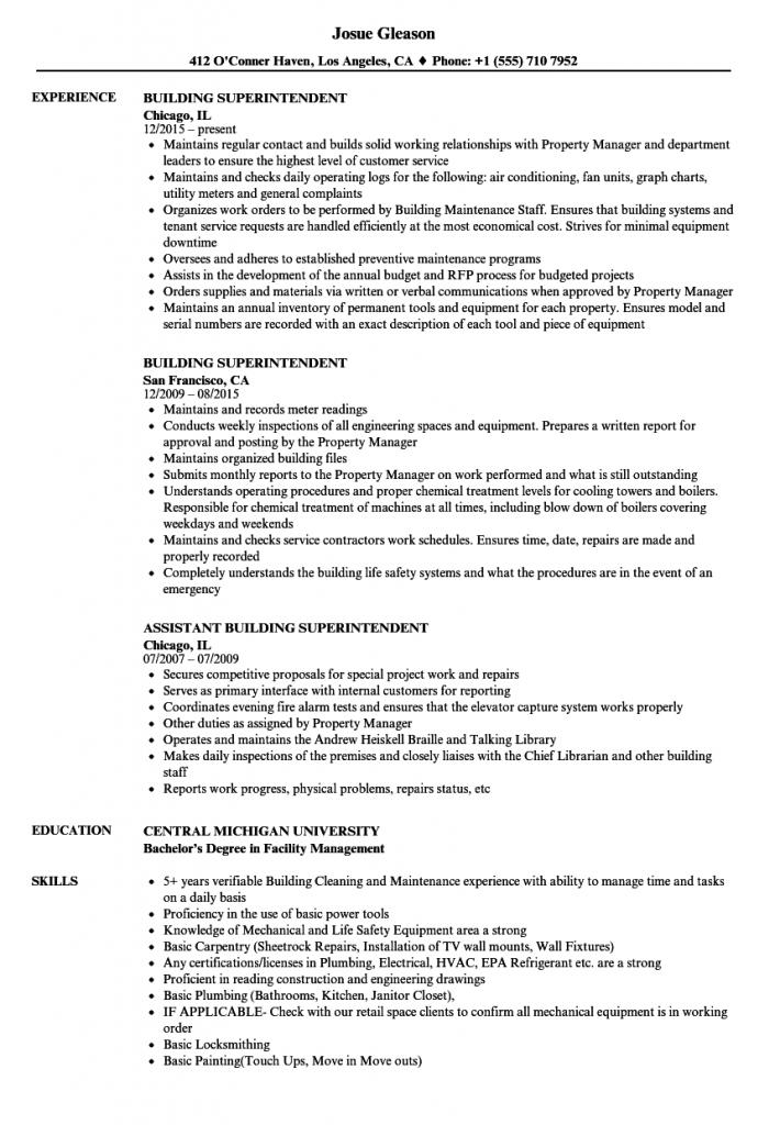 68 Great Construction Superintendent Resume Cover Letter Examples by Gallery