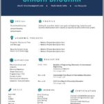 68 Nice One Page Resume Format For Freshers by Gallery