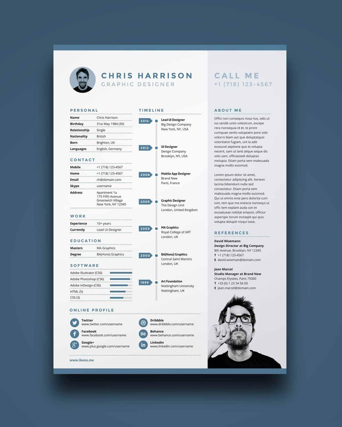 68 Nice One Page Resume Site for Pics