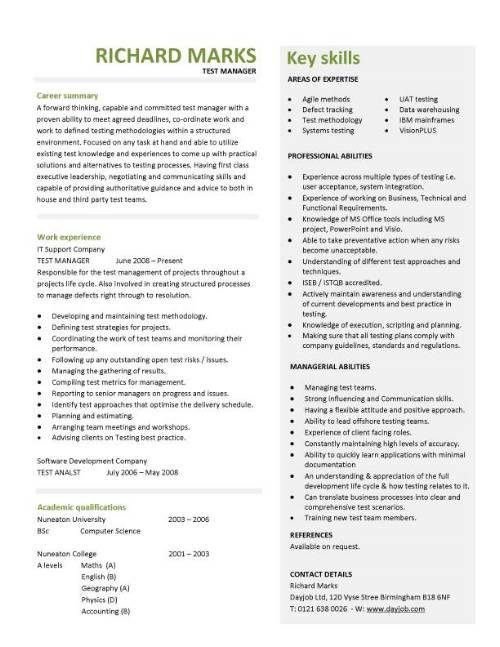69 Best Best Resume Templates For It Professionals for Pictures