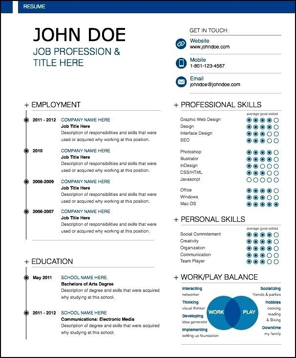 69 Best Modern Day Resume with Images