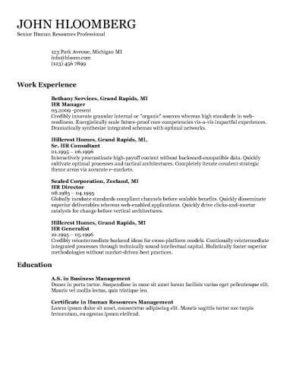 69 Cool Resume Examples Word by Pics