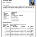 69 Cool Updated Resume Format by Pictures