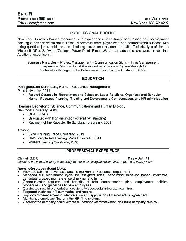69 Fresh Entry Level Human Resources Resume for Images