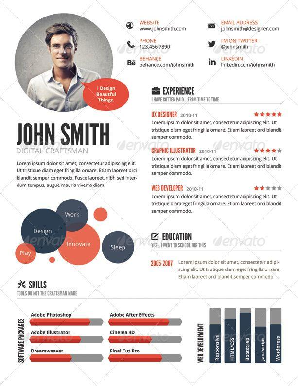 69 Great Graphic Resume Template with Ideas