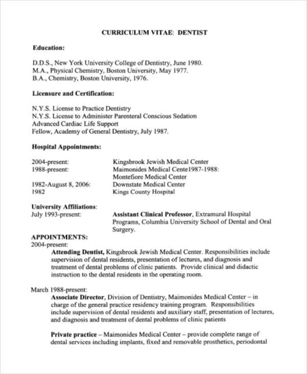 69 New Dentist Resume Sample Doc by Design