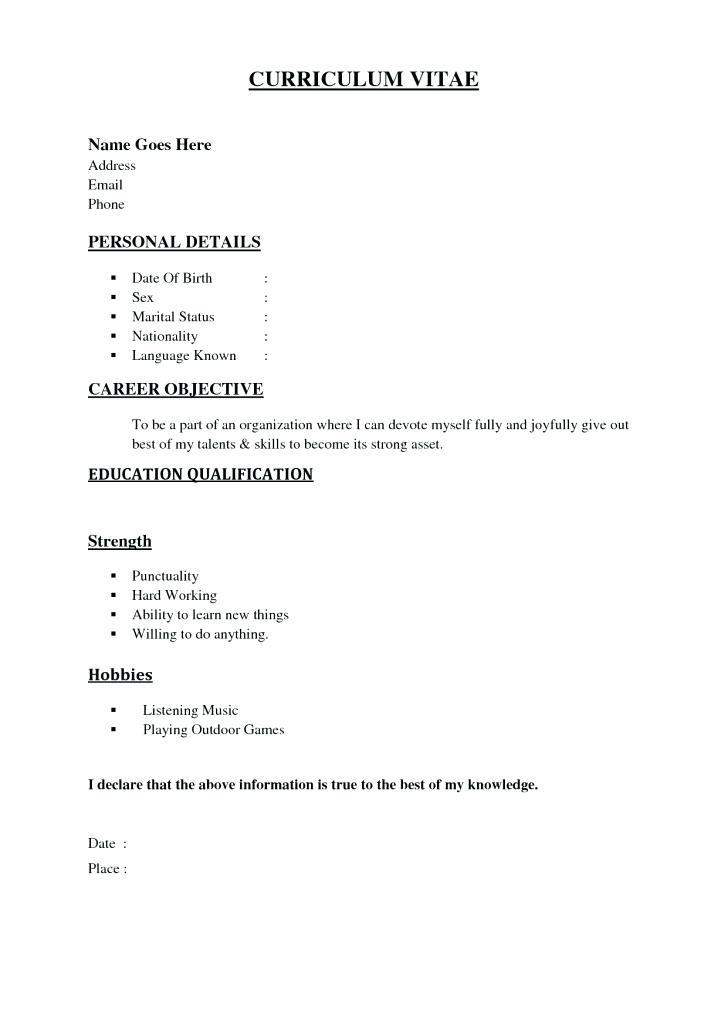 69 New Easy Resume Examples with Ideas