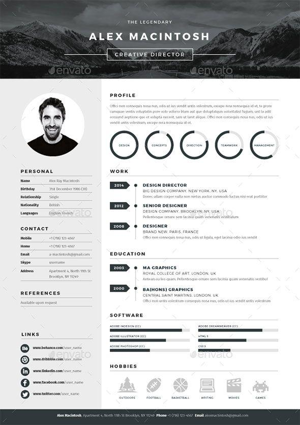 69 Nice Great Looking Resume Templates with Graphics