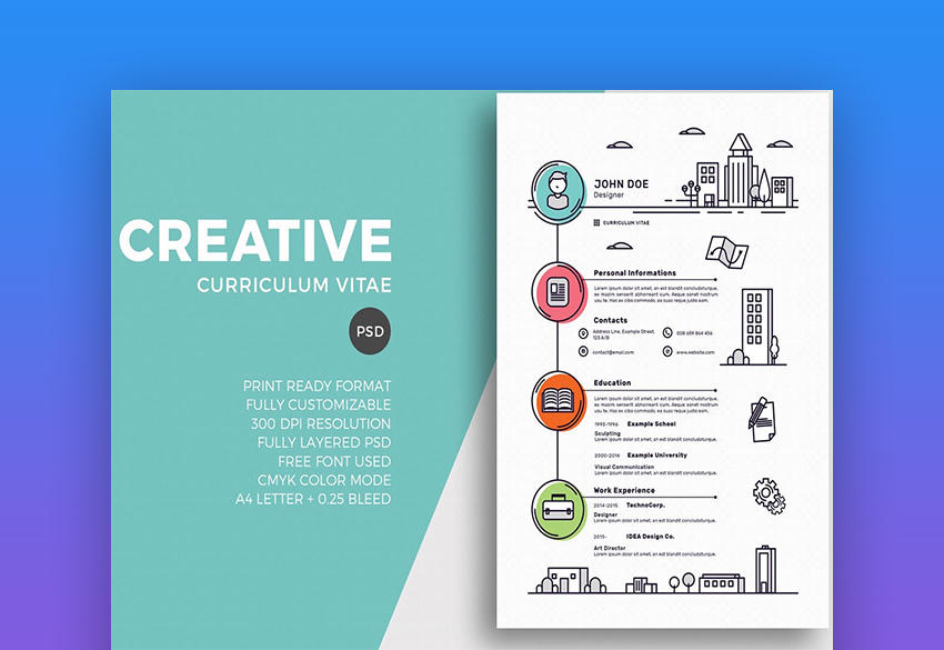 70 Awesome Graphic Resume Template by Gallery