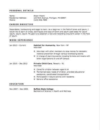 70 Cool First Job Resume Outline for Design
