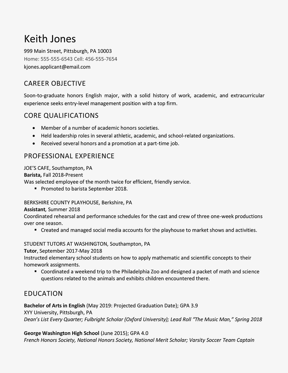 70 Cool One Job Resume for Graphics
