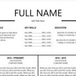 70 Excellent Recommended Resume Templates with Graphics