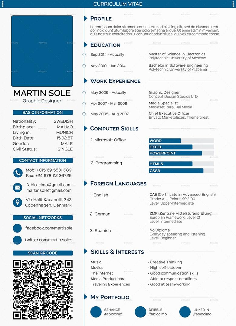 70 Great Free Cv Template Download for Pictures