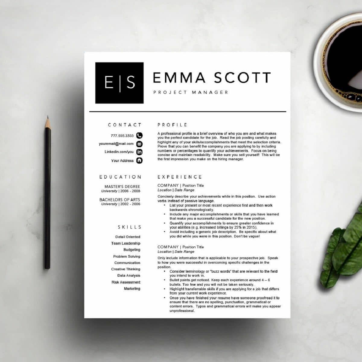 70 Inspirational Modern Day Resume Template for Ideas