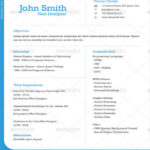 71 Beautiful One Page Cv Word Template with Pictures