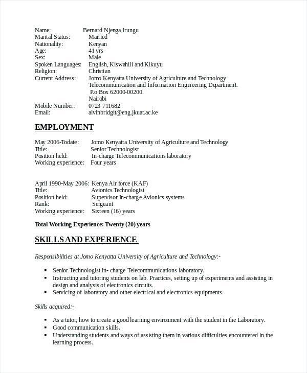 71 Cool Electrical Engineering Resume Sample For Freshers for Pictures