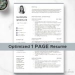 71 Excellent One Page Cv Word Template with Ideas