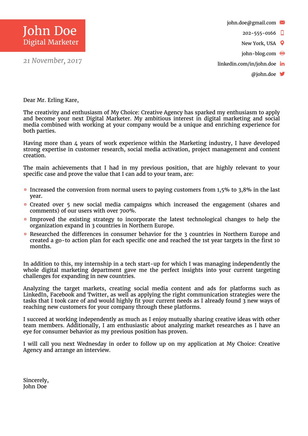 71 Fresh Cover Letter Format for Pictures