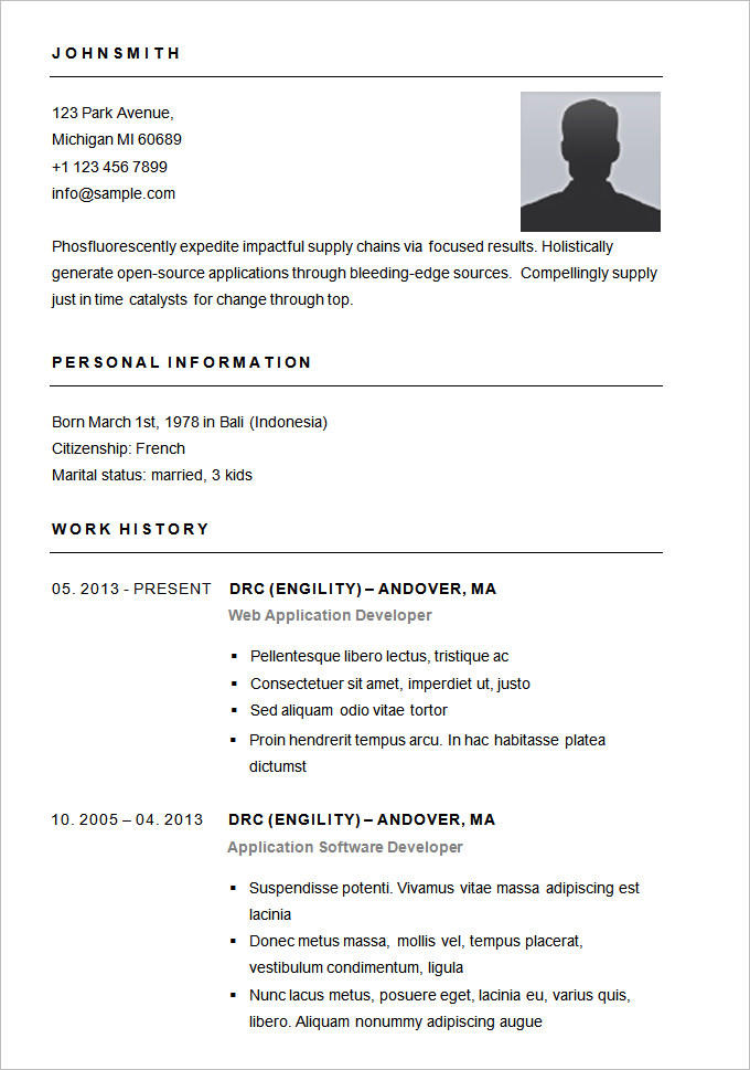 71 Inspirational Simple Resume Template Word with Gallery