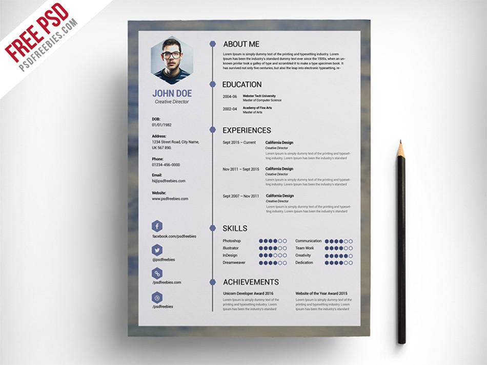 71 Nice Free Cv Template Download with Pictures