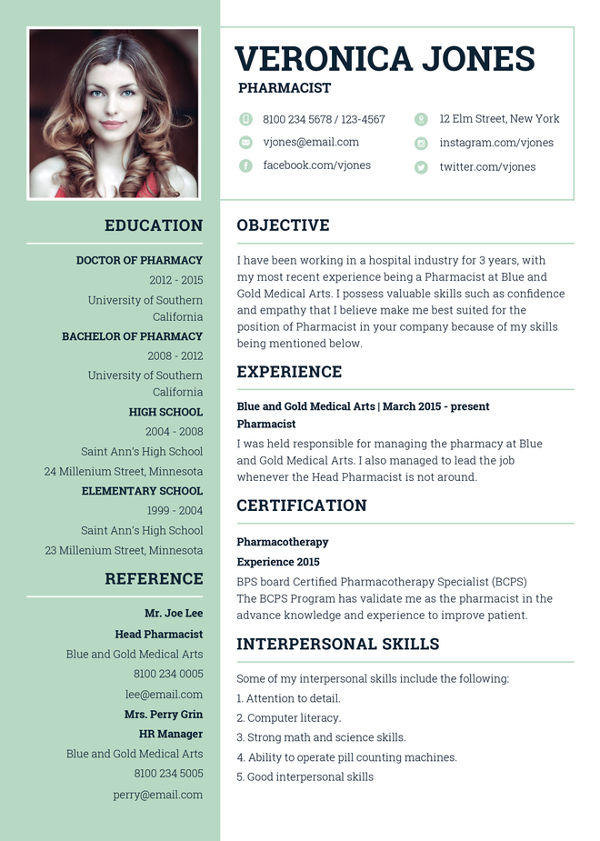 72 Best Curriculum Vitae Template by Ideas