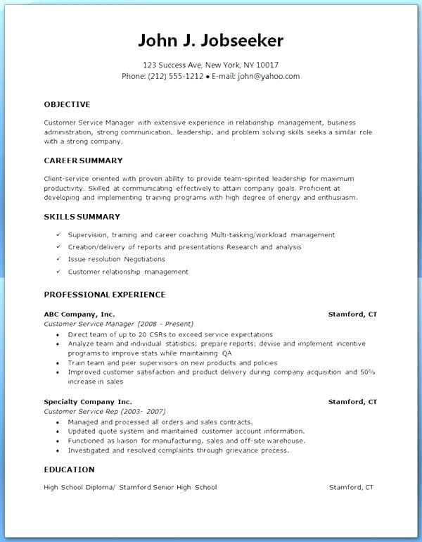 72 Fresh Resume Format Examples for Pictures