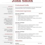 72 Great A One Page Resume with Pictures