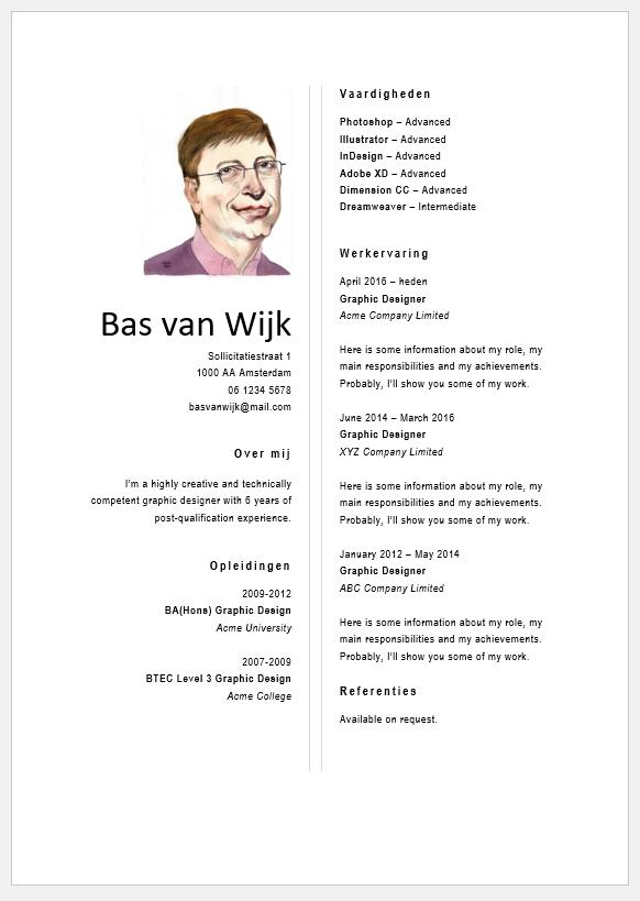 72 Nice Cv Template Gratis for Design