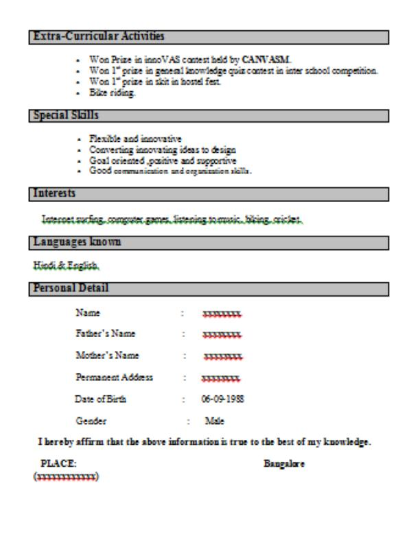 72 Nice Interview Resume Format for Gallery