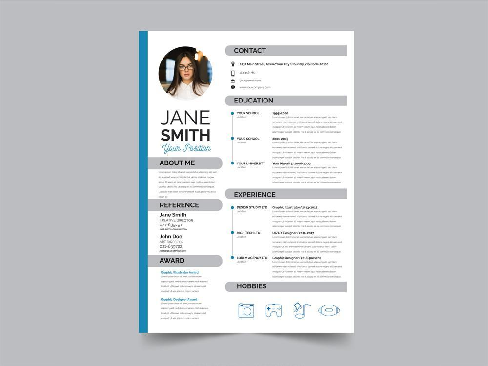 72 Nice Modern Resume Design with Images