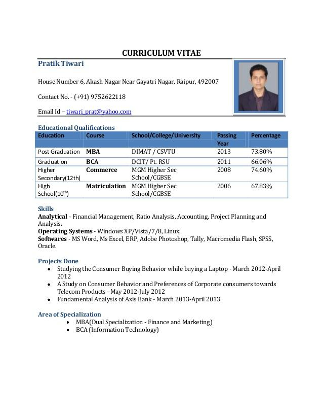 72 Stunning Resume Format For Freshers by Images