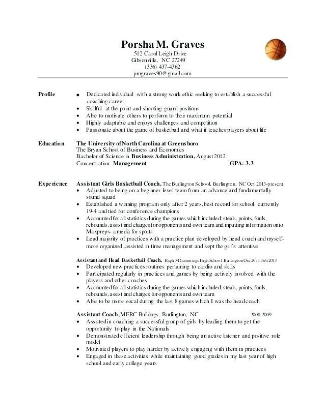 73 Awesome Basketball Coaching Resume Cover Letter by Design