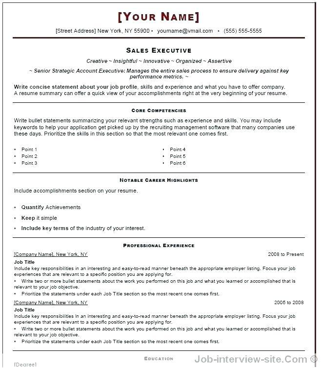 73 Fresh Interview Resume Format for Images