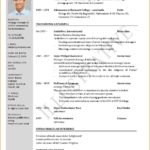 73 Fresh One Page Resume Format For Freshers with Pictures