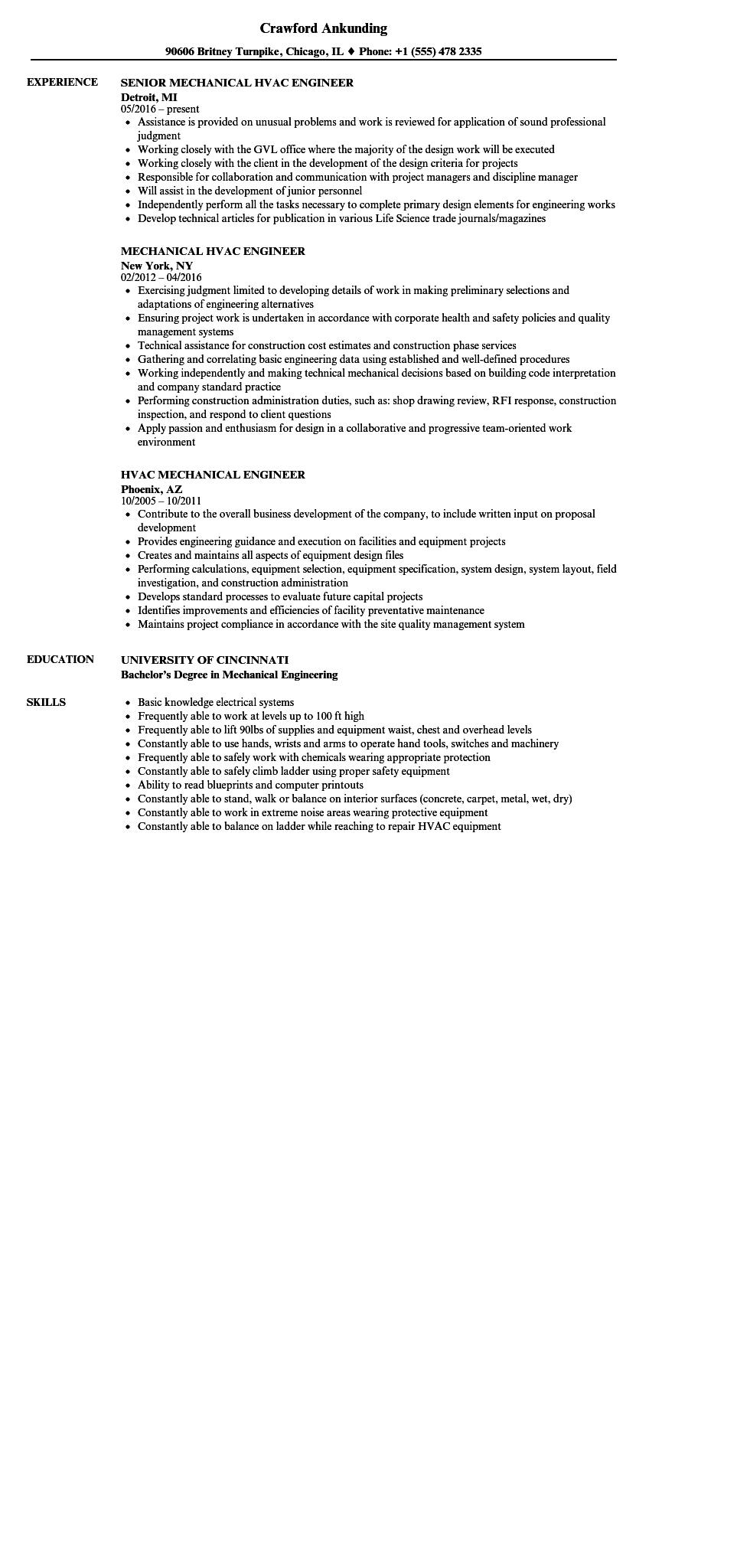 73 Great Mechanical Engineer Resume Sample by Pics