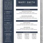 73 Lovely One Page Cv Template by Ideas