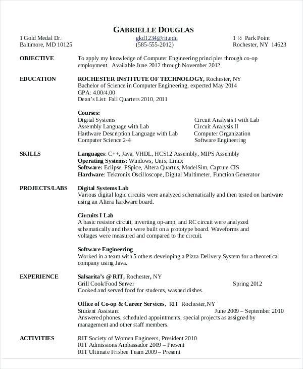 73 Stunning Computer Engineering Resume with Gallery