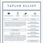 74 Beautiful One Page Resume Format For Freshers by Graphics