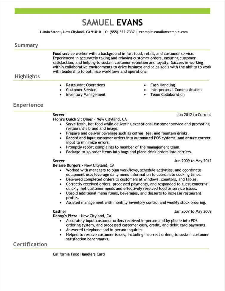 74 Beautiful Resume Format Examples with Graphics