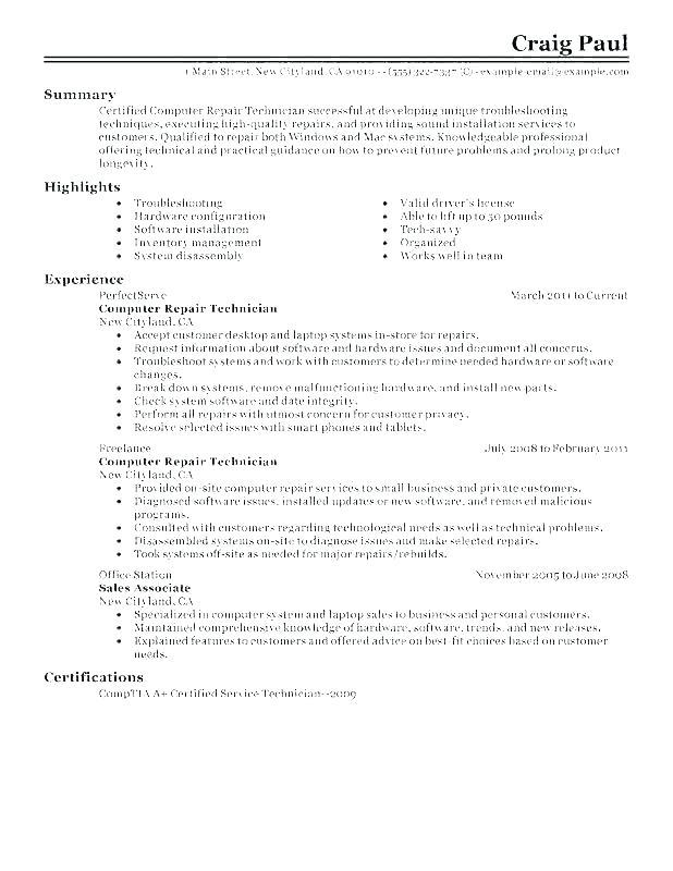 74 Fresh Auto Mechanic Resume Objective Examples with Pics