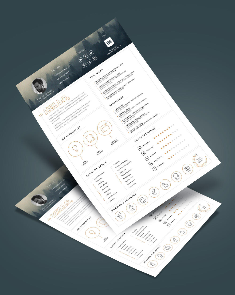 74 Fresh Free Stylish Resume Templates for Ideas
