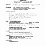 74 Great Beginner Job Application Resume Sample with Pics