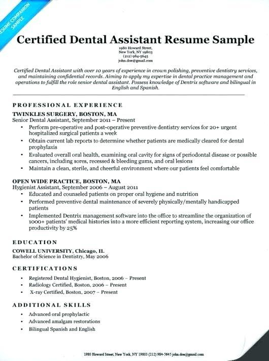 74 Great Dental Assistant Resume Skills Examples with Gallery