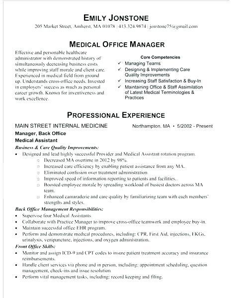 74 Lovely Medical Front Desk Resume for Graphics