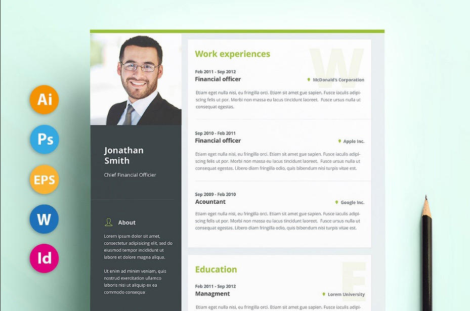 74 Nice Cv Page Layout with Design
