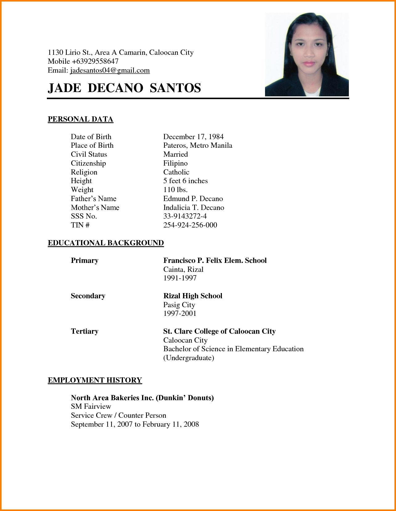 74 Nice Sample Resume Format by Design