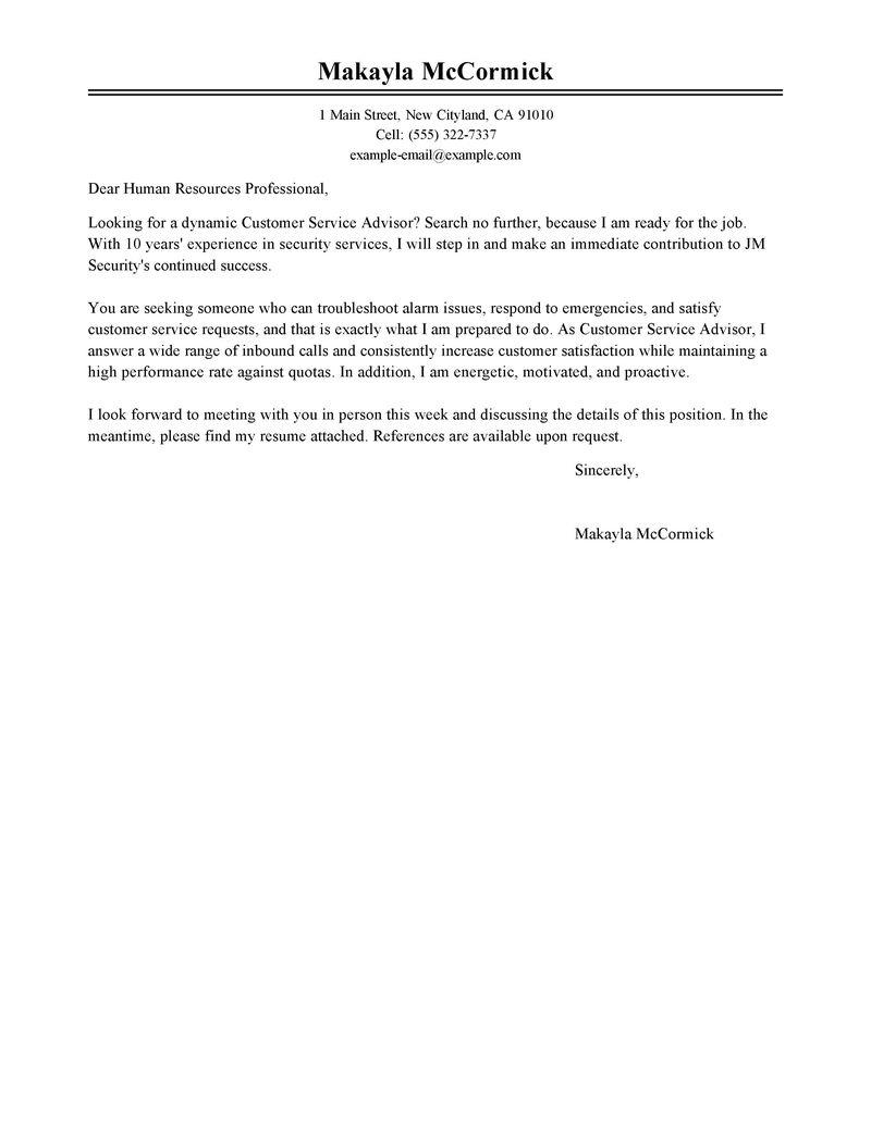 74 Stunning Security Cover Letter by Images